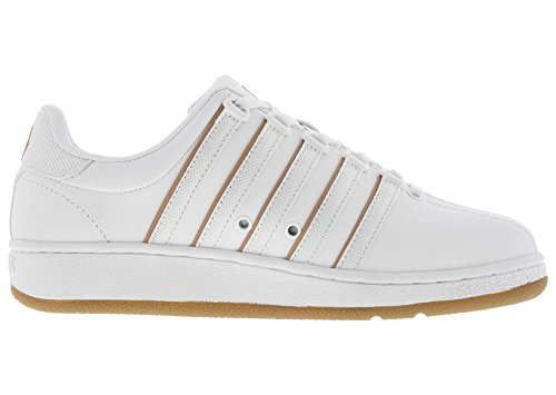 K-swiss Mens Classic Vn Sneaker Bianco / Naturale / Gomma