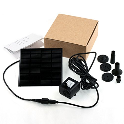 Solar Panel Submersible Fountain Pond Power Water Pump Kit Garden Pool Watering by Unknown