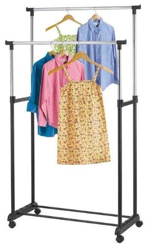 Control Brand Double Adjustable Garment Rack