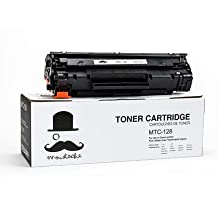 Moustache ® Canon 128 (3500B001AA) Premium Quality New Compatible Black BK Toner Cartridge For Canon128 Canon L110 L190 ImageClass D530 D550 MF4412 MF4420n MF4450 MF4550 MF4550d MF4570dn MF4570dw MF4580dn MF4770n MF4880dw MF4890dw ~ 2,100 Pages Yield