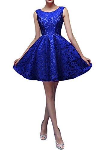 missd ressy Mujer Punta Redonda Cuello A de línea aermel los mini Party para ropa Prom Azul