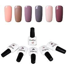 Vishine Soak Off UV Gel Nail Polish Mix Color Nail Lacquer Manicure Set 6pcs X 10ml #006