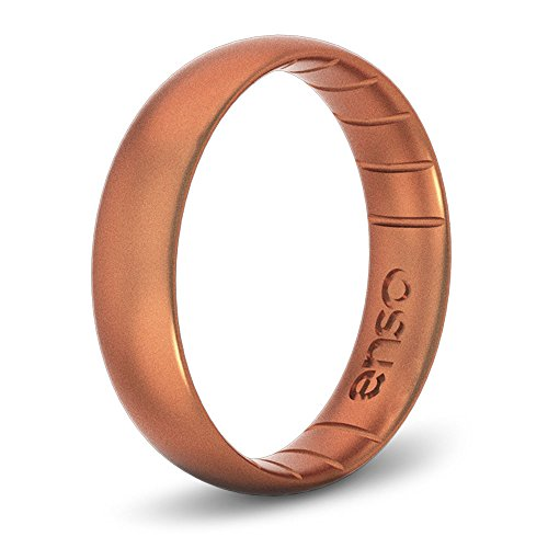 Enso Rings Thin Elements Silicone Ring | Handmade in The USA | The Premium Fashion Forward Silicone Ring | Infused with Precious Metals & Timeless Luxury | Lifetime Quality Guarantee