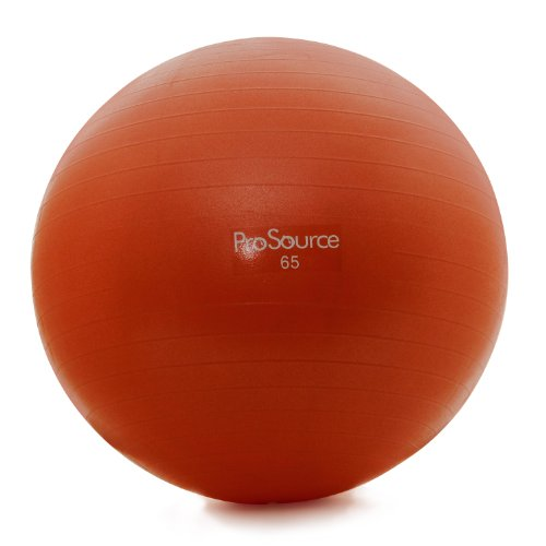 ProSource Premium Anti Burst Swiss Exercise Ball with pump (Red,65cm) price