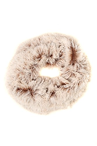 Sakkas CXGJ1533 - Abir Soft Furry Reversible Short Twist Wrap Around Infinity Scarf - 1-Brown - OS (Pattern Rib Scarf)