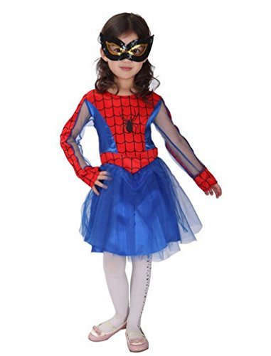 - 41ZfP9otFQL - LC Boutique Girls Spidergirl Spider Woman Complete Costume sizes to fit 4 to 10 Years