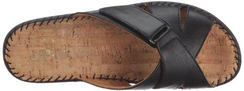 Hans Herrmann Collection Schwarz 035938-10 - Sandalias clásicas de cuero para mujer Negro