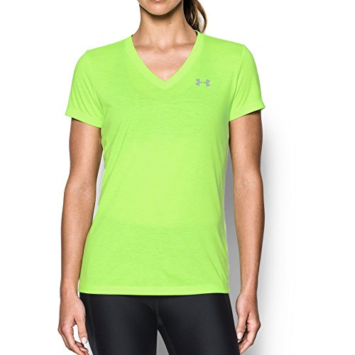 Lime Twist (Under Armour Women's Threadborne Train Twist V-Neck, Quirky Lime/Steel, Large)