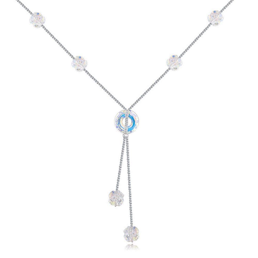 Weiduoliファッション鎖骨チェーンクリスタルネックレスレディースギフト   B07M9J1GLH