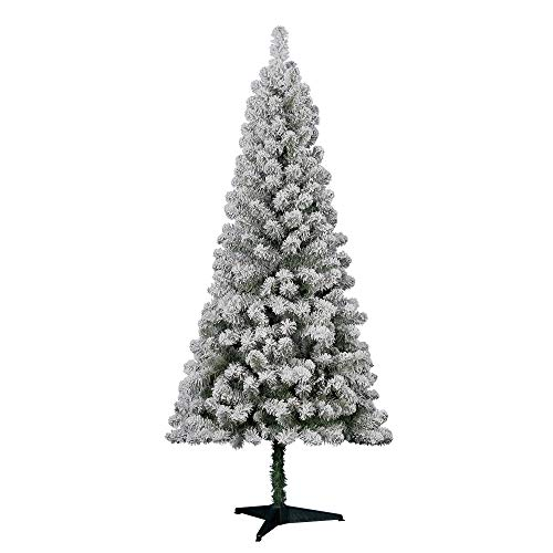 Holiday Time 6' Flocked Greenwood Pine Artificial Christmas Tree - Green