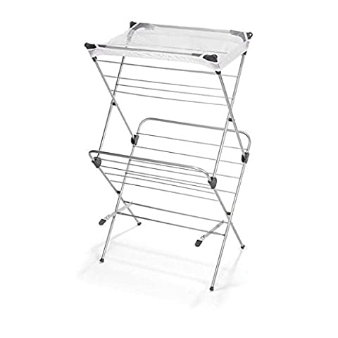 Polder Two-Tier Free Standing Clothes Drying Rack with Mesh Garment Dryer (9 Dj Rack)