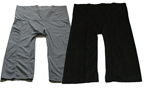 Cute Sauna Pants Yoga Trousers Thai Fisherman Pants Lululemon Pants Free Size Cotton Pack 2 Solid Charcoal and Black by Thai cotton