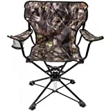 MAC SPORTS CAMO SWIVEL CHAIR, Sturdy steel frame