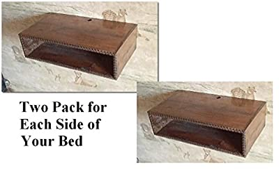 Nightstand, Floating bedside table, Floating bedside table,wall mounted night stand , two pack