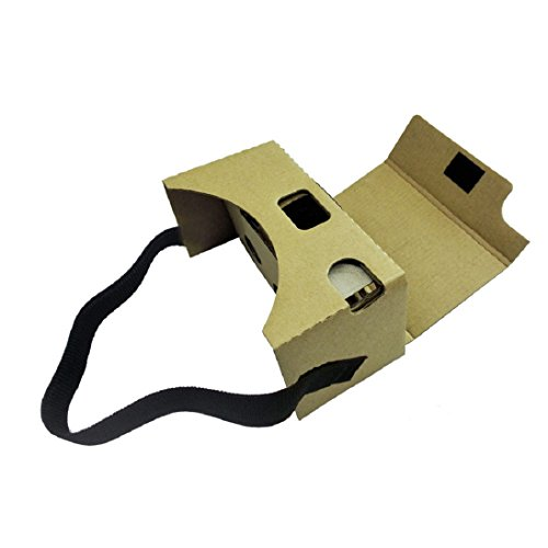 Google Cardboard Kit DIY 3D glasses by AutumnFall Virtual Reality Video Viewer Compatible with Android and Appple with Head Strap, Nose Pad, and Easy Instruction
