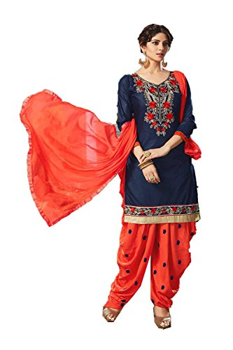 Dessa Collections Indian Women Designer Partywear Ethnic Traditonal Navy Blue Anarkali Salwar Kameez by Dessa Collections
