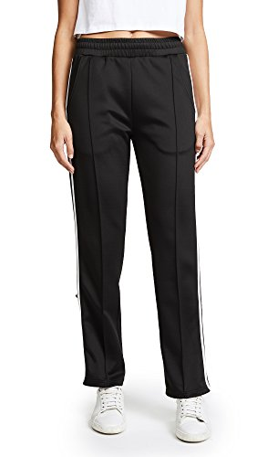 Phat Buddha Women's Barclay's Track Pants, Caviar/Bright White, (Barclay Pant)