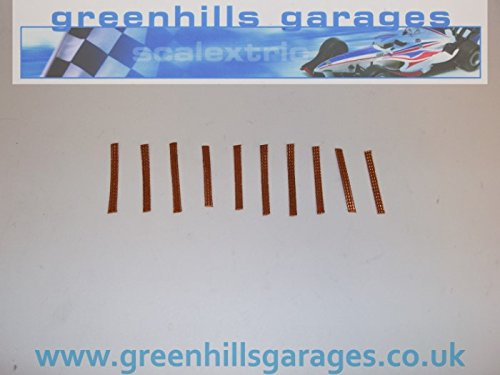 10x Greenhills Scalextric & Slot Car 100% Copper Pick Up Braids / Brushes