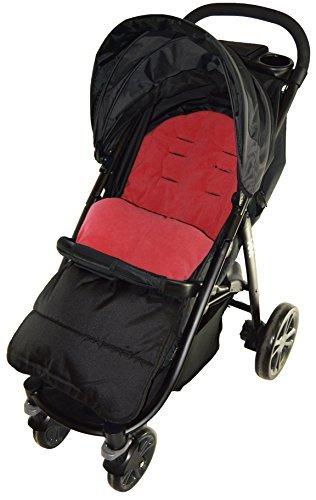 Saco/Cosy Toes Compatible con Maclaren Techno para carrito, color rojo