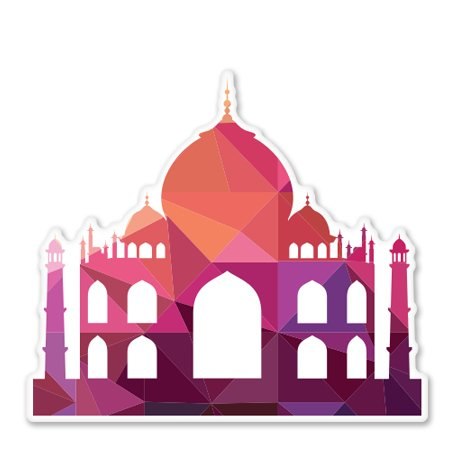 taj-mahal-triangles-geometric-design-vinyl-sticker-car-phone-helmet-select-size