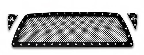 2005-2010 Toyota Tacoma Black Rivet Stainless Steel Mesh Grille Grill