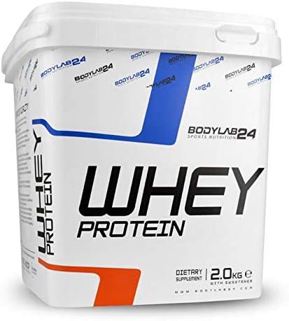 [Gesponsert]Bodylab24 Whey Protein 2kg | Eiweißpulver, Protein-Shake für Kraftsport & Fitness | Kann den Muskelaufbau unterstützen...