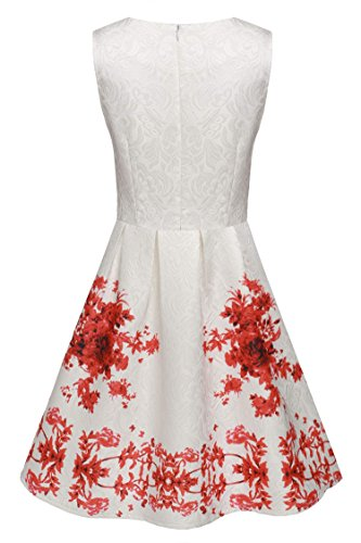 Inspired Vintage Swing Audrey Dress Women's Hepburn Red5 Cocktail 50's Rockabilly ACEVOG 5OXqn0