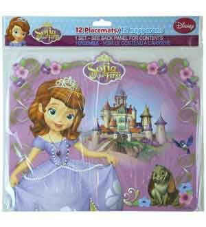 Sofia The First Paper Placemats 12 Pk [3