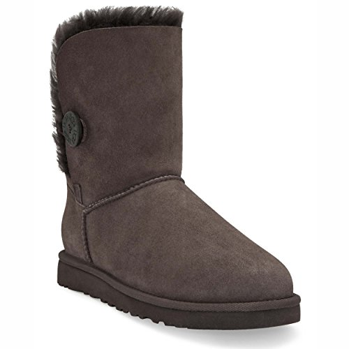 UGG para Chocolate mujer Button Bomber 5838 Botas Australia Bailey vqYw8rv