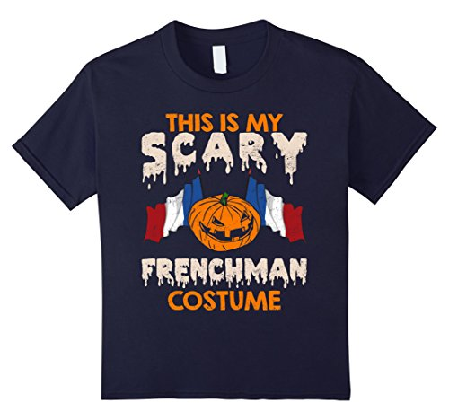 Kids This Is My Scary Frenchman Costume Halloween T-shirts 6 Navy