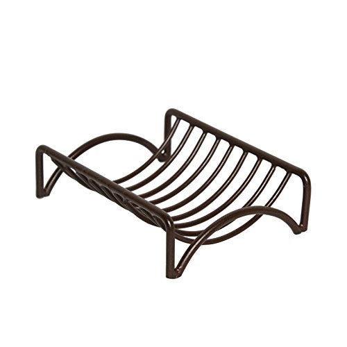 GoCraft Bar Soap Dish | Thanksgiving Gifts Bathroom Vanities, Kitchen Sink Countertop - Wire Metal Bronze Finish - Iron Soap Dish