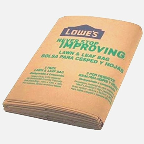 Lowes 30 Gallon Paper Lawn and Leaf Trash Bags, 5 Count (Pack Of 3) 15 Total by Lowe's