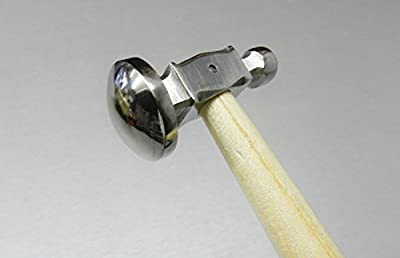 "Chasing Hammer 1"" Full Domed Face Jewelry Crafts Metal Forming Jewelers Hammer (e 10)"