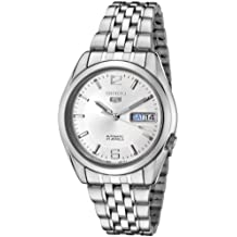 Seiko Men's 5' Japanese Automatic Stainless Steel Casual Watch, Color:Silver-Toned (Model: SNK385K)