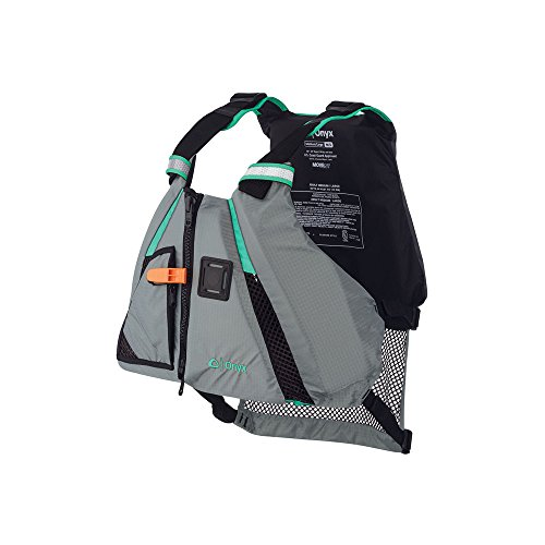 ONYX MoveVent Dynamic Paddle Sports Life Vest, Medium/Large, Aqua (Best Life Jacket For Canoeing)
