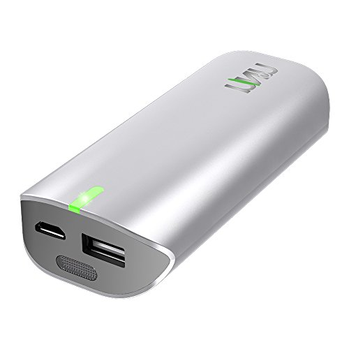 UNU Universal Battery Charger 5000mAh USB External Battery Pack - Portable Charging Pack - Glossy White