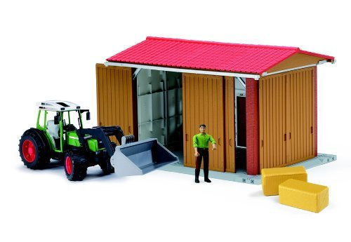 Bruder Bworld Machine Hall with Fendt 209 S by Bruder (Bruder Machine Hall)