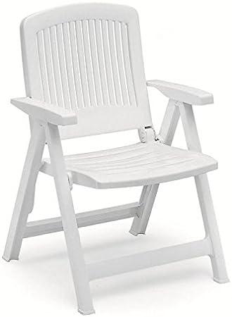 Dos sillones en resina Liz, sillones plegables de exterior, sillón de plástico con reposabrazos: Amazon.es: Hogar