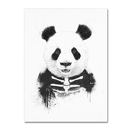 Zombie Panda by Balazs Solti, 24x32-Inch Canvas Wall Art from Trademark Fine Art