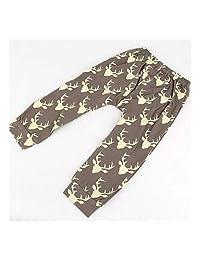 FidgetFidget Bottoms Leggings Harem PP Pants Trousers for Newborn Infant Kids Baby Boy Girls Deer Random Color18-24months