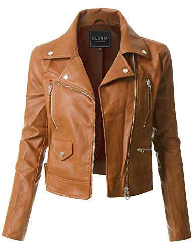 Brown Leather Biker Jackets - 4