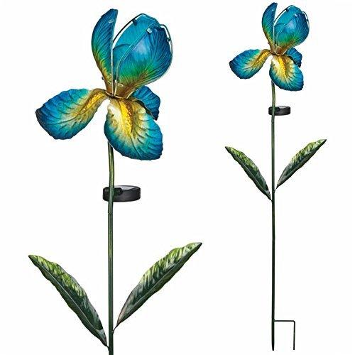 Regal Solar Iris Stake - Blue by Regal Art & Gift by Regal Art & Gift