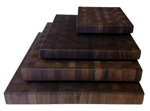 (Walnut Cutting Boards End Grain Hardwood Butchers Chopping Block Size: Small 9x12 inch)