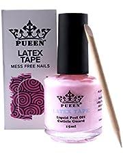PUEEN Latex Tape Liquid Peel Off Cuticle Guard Skin Barrier Protector Nail Art Palisade Nail Polish Remover 15ml Pink - BH000584