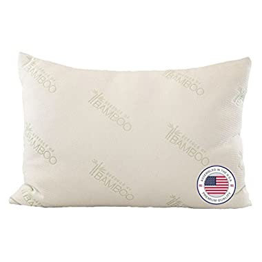 Bamboo Pillow - Most Comfortable Alternative Down Hypoallergenic Pillow with Stay Cool Bamboo Cover Best Pillow Ever for Stomach, Back, and Side Sleepers – 100%