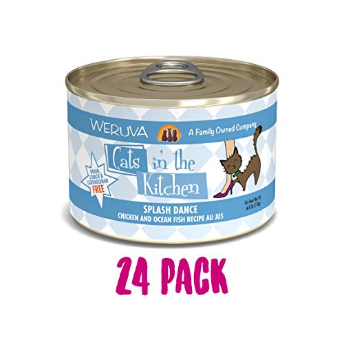 Weruva Cats In The Kitchen, Splash Dance With Chicken & Ocean Fish Au Jus Cat Food, 6Oz Can (Pack Of 24)