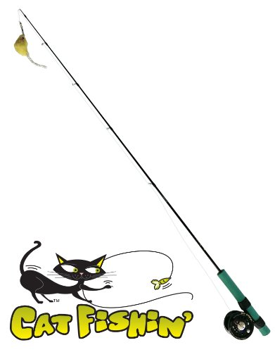 Cat Fishin': The Toy with Lasting Allure. The Ultimate Interactive Cat Fishing Pole/wand Toy Has Arrived!, My Pet Supplies