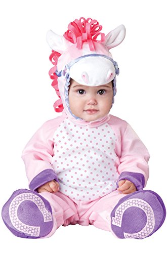 InCharacter Baby Girl's Pretty Pony Costume, Pink/White, (Baby Horse Costume)