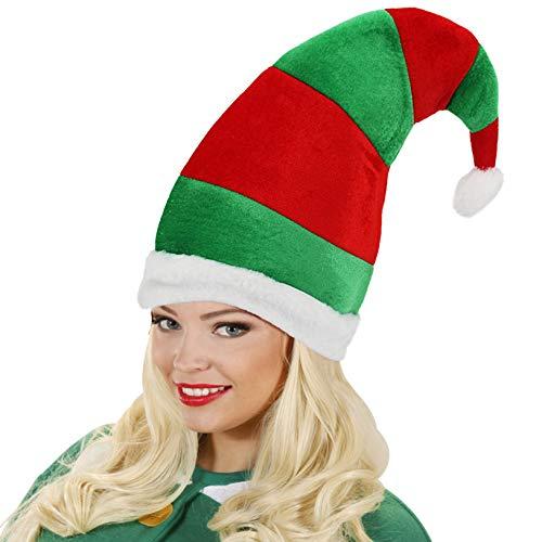 Elf Santa Hat Novelty 3D Green Red Novelty Christmas Party Hats Holiday -
