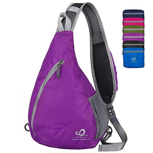 WATERFLY Sling Chest Backpacks Bags Crossbody Shoulder Trian